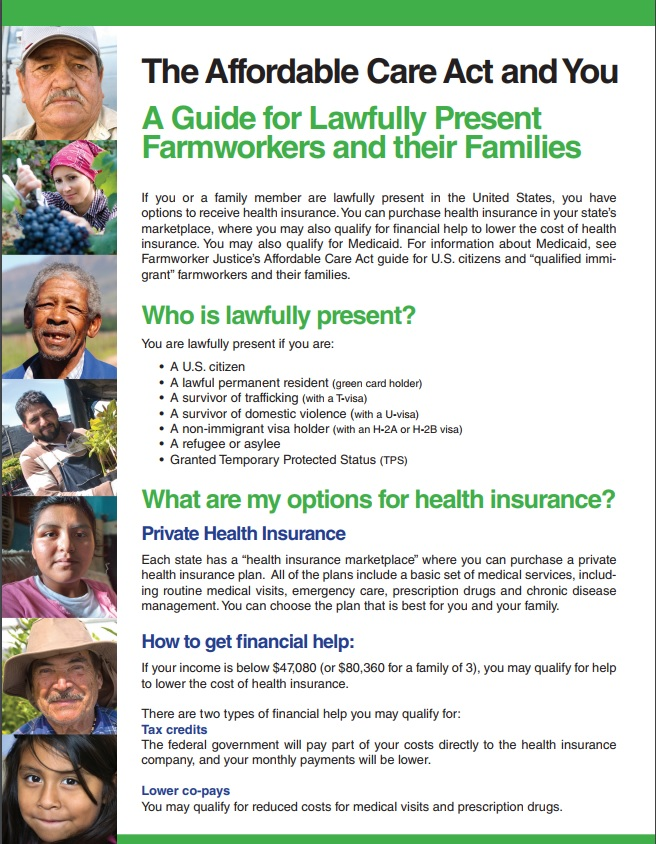 Guide for Lawfully Present Farmworkers and Their Families