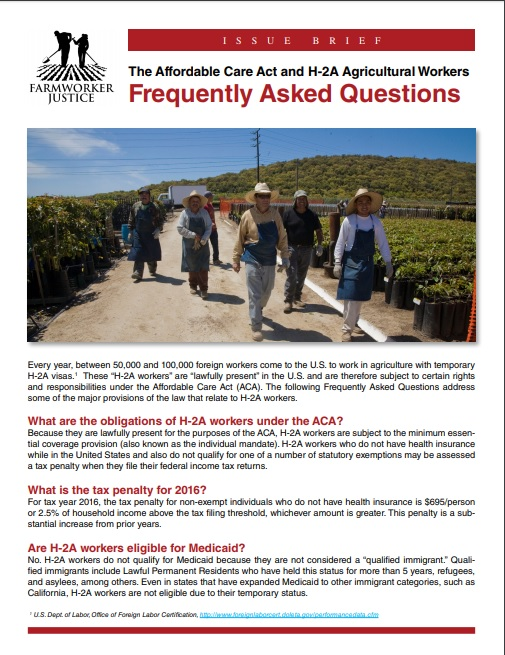 ACA and H-2A Workers FAQ