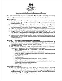 Checklist for Preparing for Immigration Enforcement