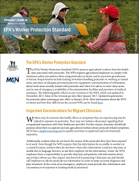Clinician Guide to EPA Worker Protection Standard