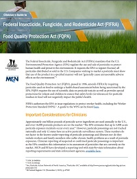 Clinician Guide to Federal Insecticide, Fungicide, and Rodenticide Act (FIFRA) and the Food Quality Protection Act (FQPA)