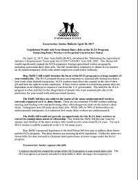 Fact Sheet on the DAIRY Act of 2017