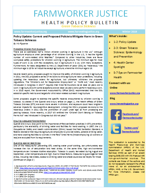 Health Policy Bulletin Winter 2019