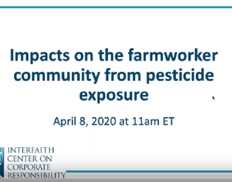 Webinar Impacts on the Farmworker Community from Pesticide Exposure